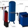 Ohřívač stlačeného vzduchu vč. teploměru, výkon 0,78 m3/min