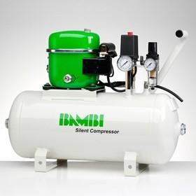 Ultratichý kompresor BAMBI BB-24, 50 l/min, vzdušník 24 l, hlučnost pouze 40 dB