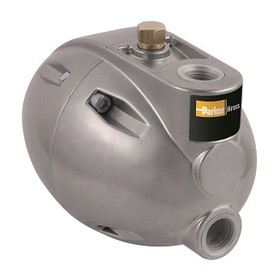 """Plovákový odvaděč kondenzátu 1/2"""" značky Parker Hirros, pro automatický odvod vysráženého kondenzátu ze systému stlačeného vzduchu."""