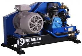Pístový kompresor 15 kW. Sací tlak 6-10 barů.