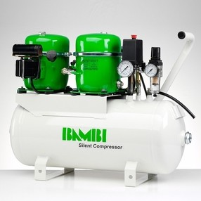 Ultratichý kompresor BAMBI BB-24T, 100 l/min, vzdušník 24 l, hlučnost pouze 42 dB