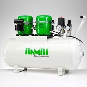 Ultratichý kompresor BAMBI BB-50T, 100 l/min, vzdušník 50 l, hlučnost pouze 42 dB