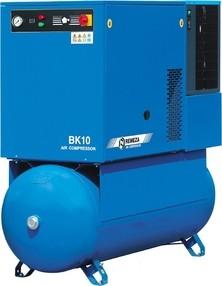 Šroubový kompresor 60 m3/hod, vzdušník 270 l, výkon 7,5 kW, 10 bar