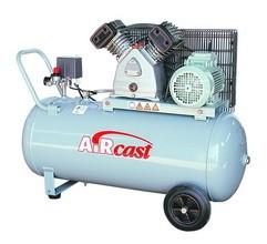 Dvoupístový kompresor AirCast 420 l/min, vzdušník 100 l, 230 V