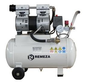 Tichý pístový bezolejový kompresor Remeza 135 l/min, vzdušník 24 l