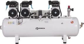 Tichý šestipístový kompresor Remeza, 375 l/min, vzdušník 150 l