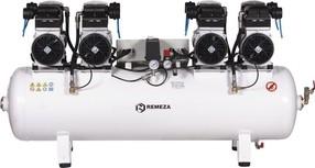 Tichý osmipístový kompresor Remeza, 500 l/min, vzdušník 150 l