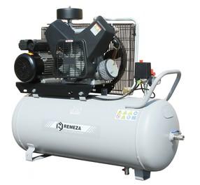 Pístový bezolejový kompresor Remeza, 675 l/min, vzdušník 270 l