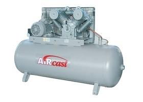 Čtyřpístový kompresor AirCast se sušičkou vzduchu, 1400 l/min, vzdušník 500 l, výkon 11 kW