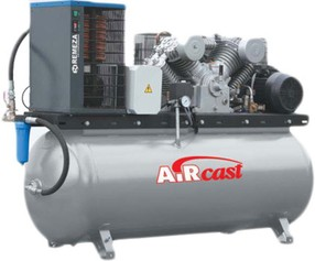 Čtyřpístový kompresor AirCast se sušičkou vzduchu, 1400 l/min, vzdušník 500 l