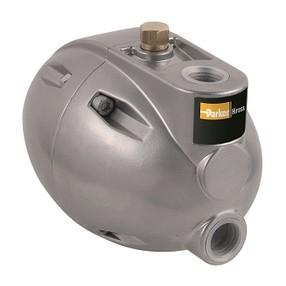 """Plovákový odvaděč kondenzátu 1"""" značky Parker Hirros, pro automatický odvod vysráženého kondenzátu ze systému stlačeného vzduchu."""
