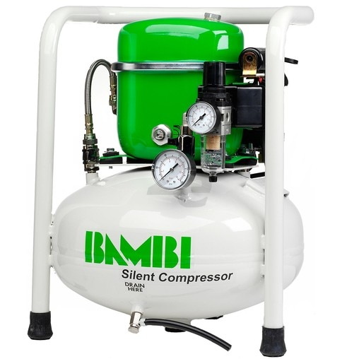 Ultratichý kompresor BAMBI BB-15, 50 l/min, vzdušník 15 l, hlučnost pouze 40 dB