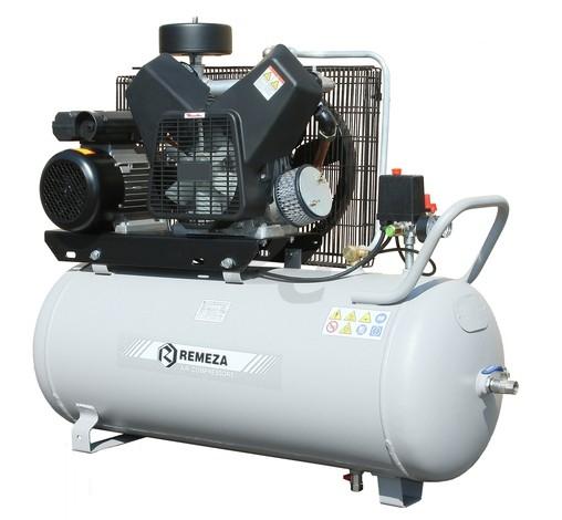 Pístový bezolejový kompresor Remeza 420 l/min, vzdušník 100 l