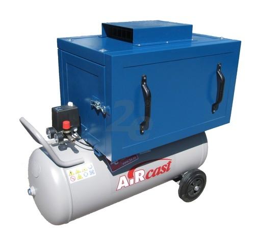 Tichý dvoupístový kompresor AirCast 420 l/min, vzdušník 100 l