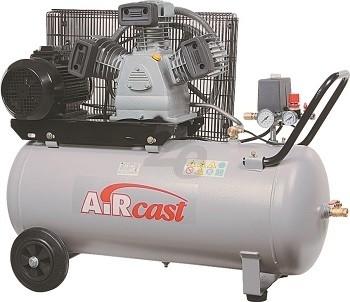 Třípístový kompresor AirCast 580 l/min, vzdušník 200 l