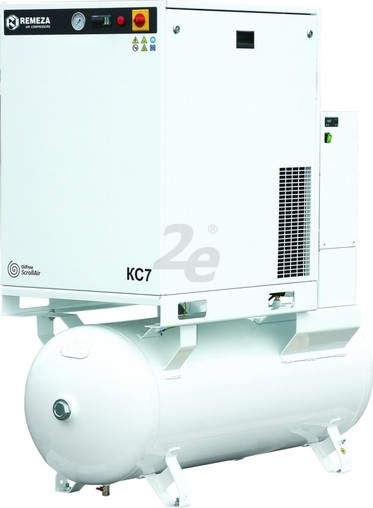 Bezolejový spirálový kompresor Remeza, 605 l/min, vzdušník 270 l, výkon 5,5 kW